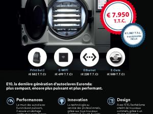 Tarif Autoclave Euronda E10 le Pack