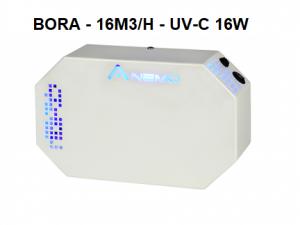 Purificateur d'air filtration traitement UVC germicide bactéricide virucide. Désinfection de l'air ambiant